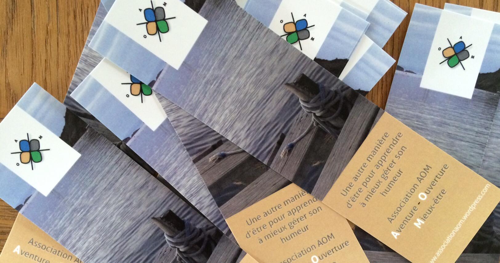 Grace A La Generosite Et Creativite De Sandrine Olivier Suissa Imprimeur Lassociation AOM Dispose Marque Page Avec Ladresse Du Blog